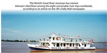Red River named among world's top eight greatest river cruises